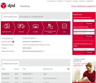 DPD tracking info